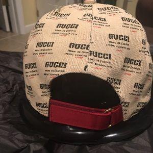 bd13cf5aea65d Gucci Accessories - Gucci Logo Invite Canvas Linen Baseball Cap!